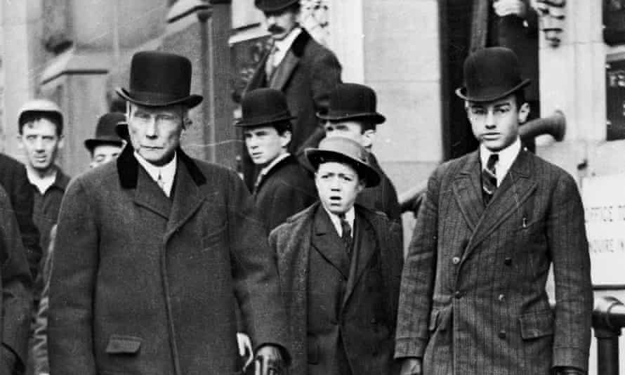 John D Rockefeller (left).