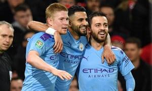 Kevin De Bruyne, Riyad Mahrez and Bernardo Silva all starred for Manchester City.