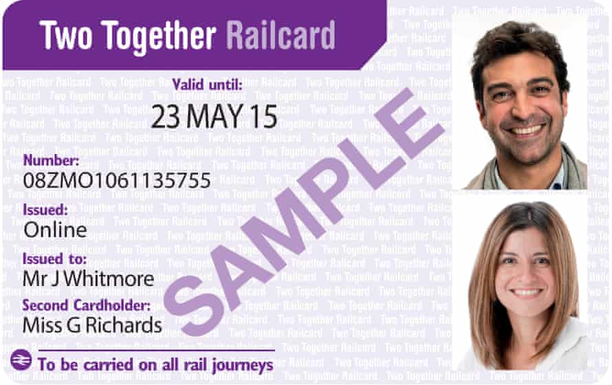 The Two Together Railcard gives one third off fares.