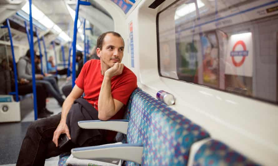 Naso Koutzoukis travelling in the first night tube train on Victoria line.