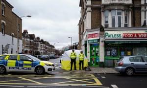 The scene in East Dulwich