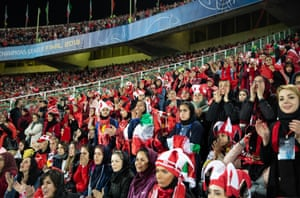 A few hundred female fans were allowed into the Azadi stadium, in Tehran, to watch a match in 2018.