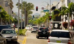 traffic lights in California