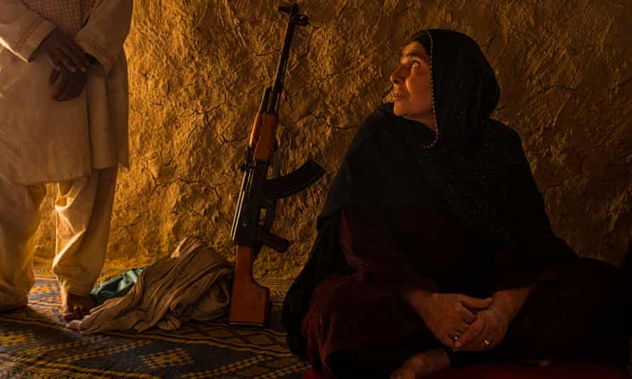 Firoza, a grandmother who commands a unit of the Afghan Local Police