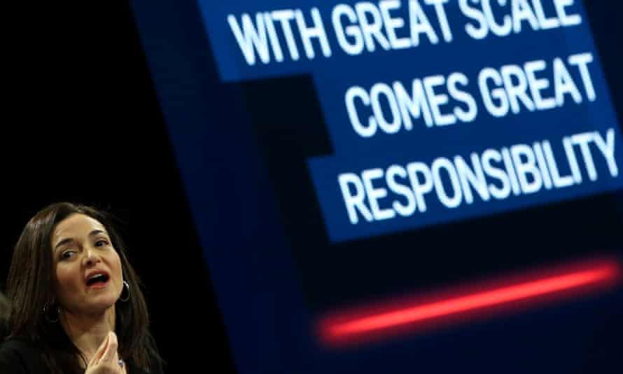 Named and mocked … Facebook chief operating officer Sheryl Sandberg.