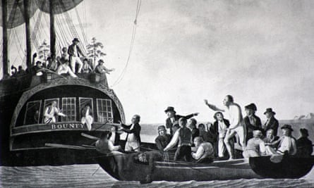 A lesson to colonists ... the mutiny on the Bounty.