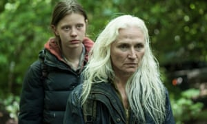 Mia Goth with Olwen Foere in The Survivalist.