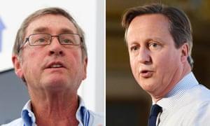Lord Ashcroft and David Cameron