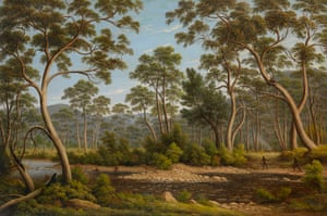 The River Nile, Van Diemen's Land, from Mr Glover's farm, painted by John Glover in 1837. At this time Tasmania's Aboriginal population had been decimated
