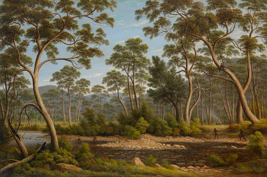"""John Glover's The River Nile, Van Diemen's Land, from Mr Glover's farm"""", 1837."""