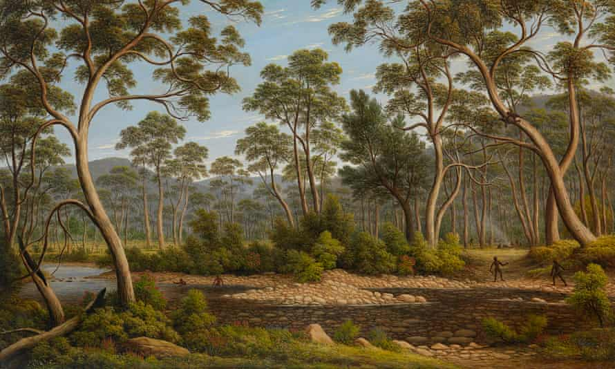 """John Glover """"The River Nile, Van Diemen's Land, from Mr Glover's farm"""", 1837. In the NGV collection."""