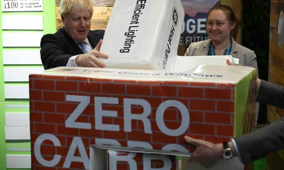Boris Johnson at the Thakeham stall at the  Conservative conference last week.