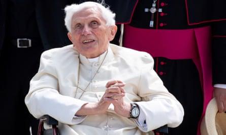 Benedict XVI pictured at Munich airport on 22 June