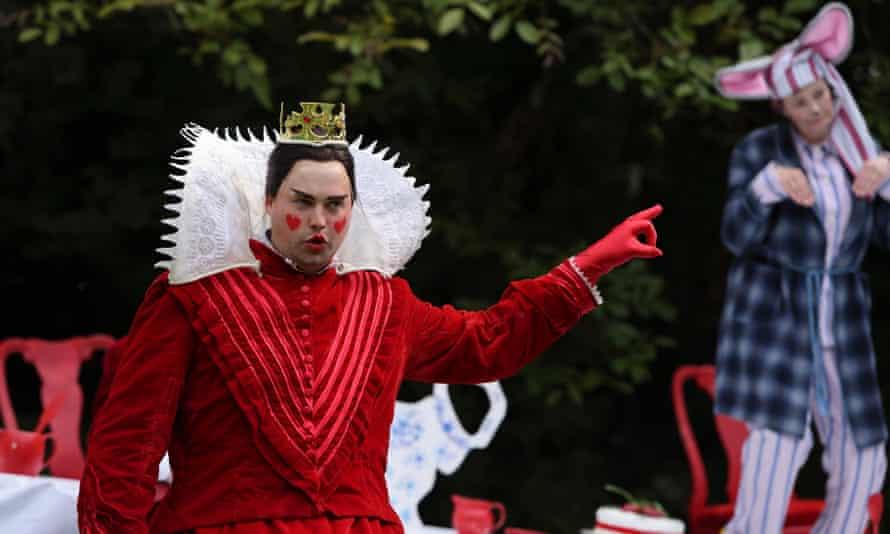 Adam Gilbert as the Queen of Hearts.