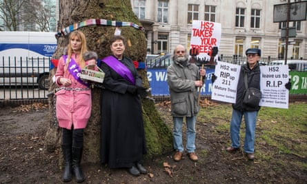 Objections to the £88bn fast-rail HS2 project include the destruction of trees and green spaces involved in its construction.