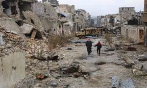 Aleppo's al-Akroub neighbourhood