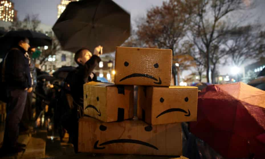 Protests again Amazon's expansion plans have taken place in northern Virginia, Nashville and New York.
