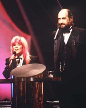 'Pandemonium' … the 1989 Brit awards, hosted by Samantha Fox and Mick Fleetwood