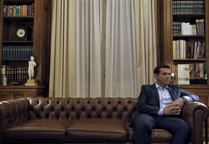 Greek Prime Minister Tsipras is received by Greece's President Prokopis Pavlopoulios in Athens, Greece<br>Greek Prime Minister Alexis Tsipras is received by Greece's President Prokopis Pavlopoulios (unseen) in Athens, Greece, August 20, 2015.