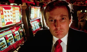 Donald Trump attends the opening of his new casino, the Taj Mahal, in Atlantic City, New Jersey, in 1989.