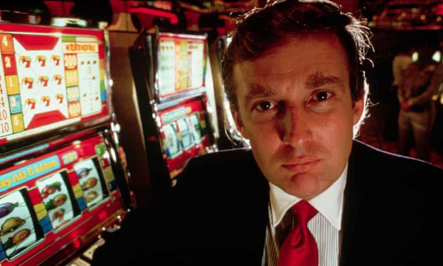 Donald Trump at the opening of the Taj Mahal in Atlantic City.