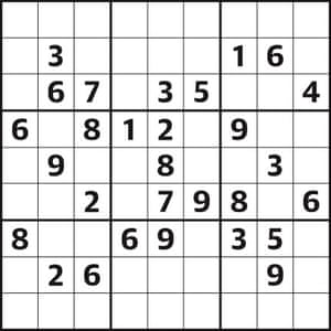 Sudoku 4,612 easy | Life and style | The Guardian