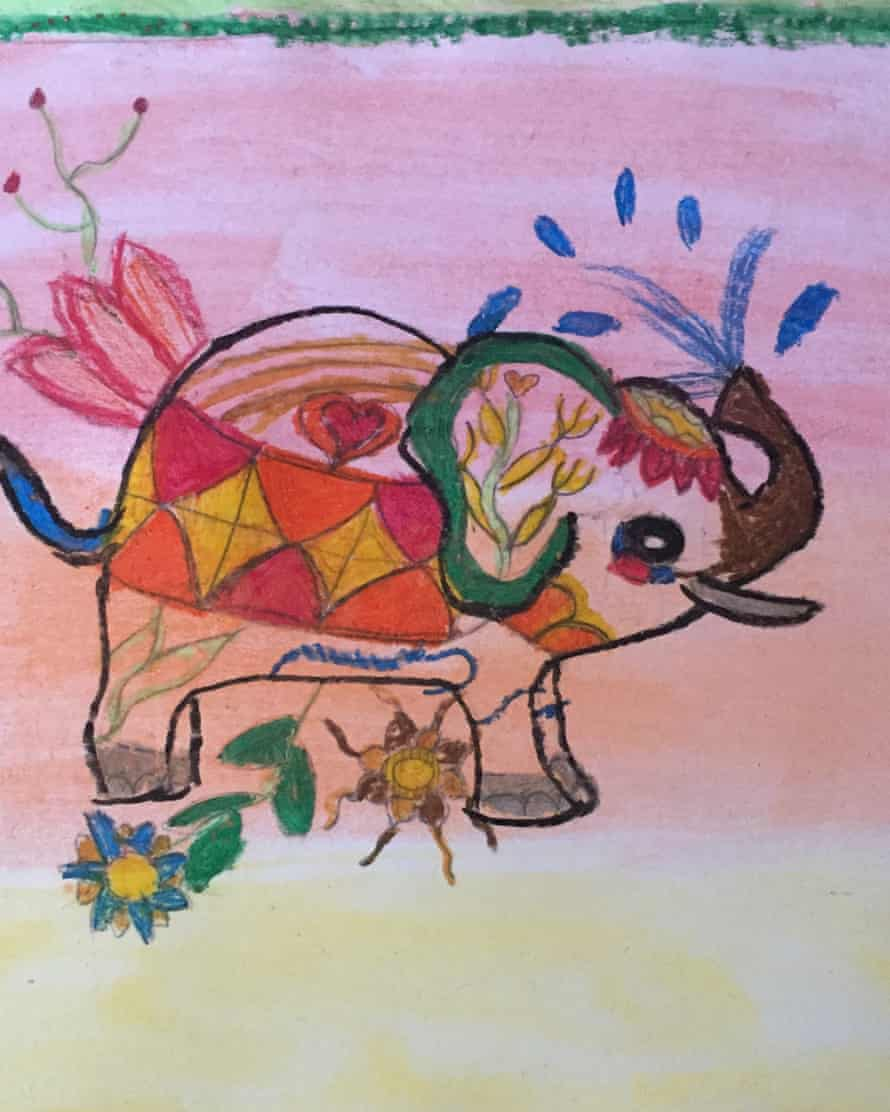 Picture of artwork supplied by Holly Ronicle for young people in lockdown Project Kid