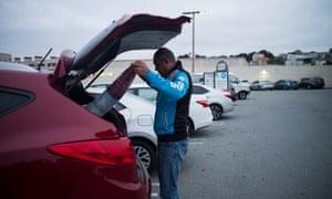 Dais Jalal sleeps in a San Francisco parking lot to avoid a lengthy commute from Sacramento.