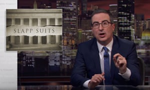 John Oliver: 'We badly need effective anti-Slapp laws nationwide to deter powerful people like Bob Murray from using the courts to shut down people's legitimate dissent.'
