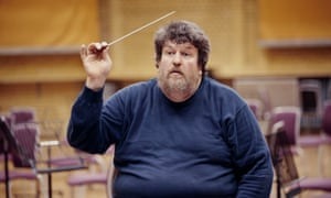 "Oliver Knussen conducting in Birmingham in 2006. 'I certainly wish I could afford to keep the two roles, conducting and composing, in better balance,"" he said."