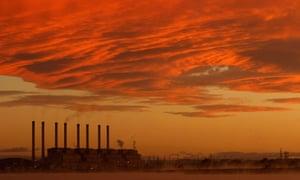 Hazelwood Power Station at sunrise