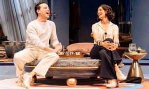 Rueful tenderness ... Andrew Scott as Garry Essendine and Indira Varma as Liz Essendine in Present Laughter.