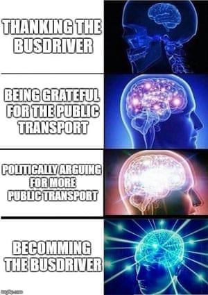A meme posted in the Facebook group of young urbanists, New Urbanist Memes for Transit-Oriented Teens.