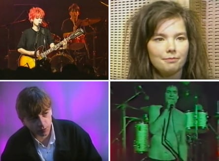 Composite from Snub TV: (clockwise) Meriel Barham of Lush, Björk, the Cramps' Lux Interior and Mark E Smith