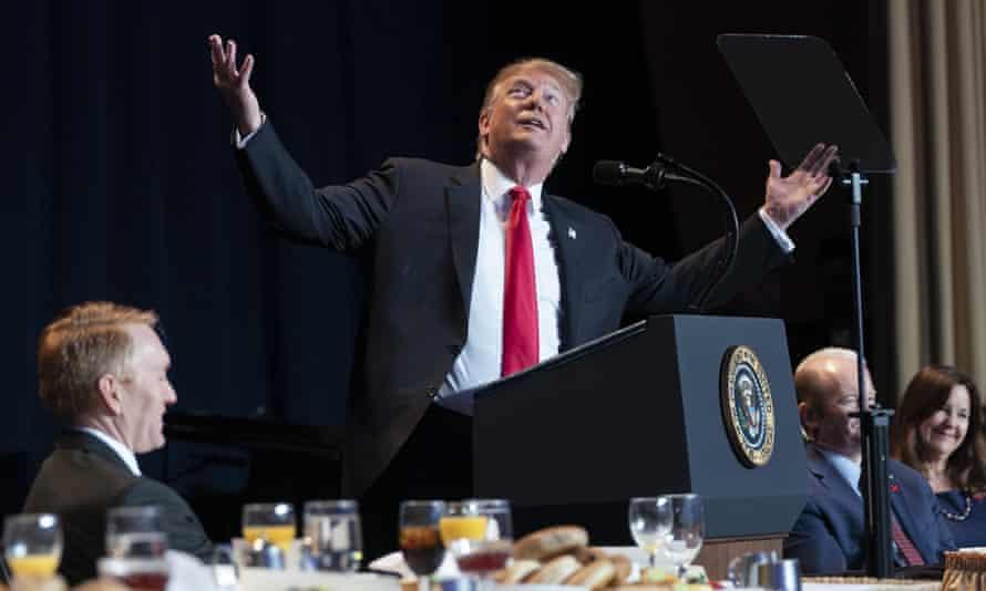 The ultimate Family president? ... President Trump addresses the 2019 National Prayer Breakfast.