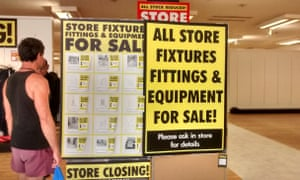 Fixtures and fittings for sale at BHS Wood Green