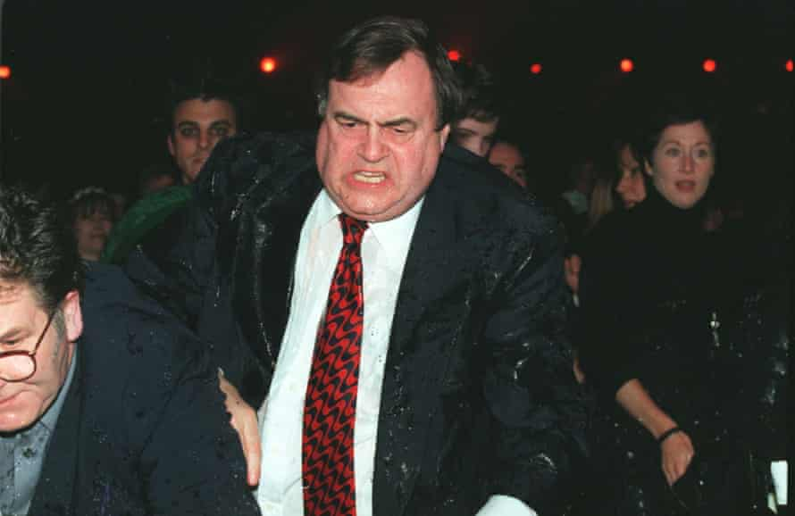 Deputy prime minister John Prescott had a bucket of cold water tipped over him by Chumbawamba's Danbert Nobacon at the 1998 Brit awards ceremony.