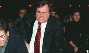 John Prescott, deputy prime minister, has a bucket of ice cold water thrown over him in 1988