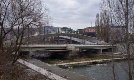 The bridge over the Ibar in Mitrovica.