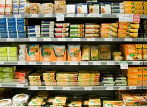 Quorn products in supermarket