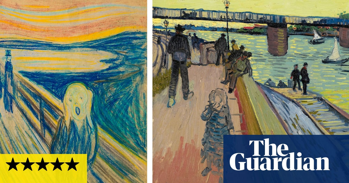 Side by side, Edvard Munch and Vincent van Gogh scream the