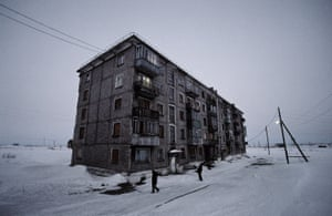 Last inhabited building in Yur-Shor town, Vorkuta. Russia.2009 One of the thirteen settlements part of the Vorkuta Ring, composed by 13 towns around the main city, each one of them with has it's own coal mine. After the coal crisis in Russia, the international demand of this mineral starts to go down, and these towns started to die, closing schools, pharmacies, markets ... The whole population were forced to leave, but in one building there were people who have esisted until the last minute, waiting for better conditions by the government, to start a new life in any other part of the country.