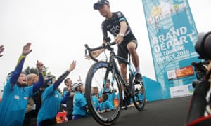 Britain's Chris Froome at the team presentation before the 2016 Tour de France.