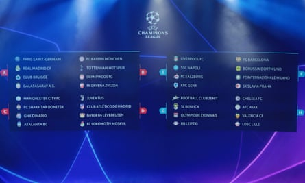 The full Champions League group stage draw