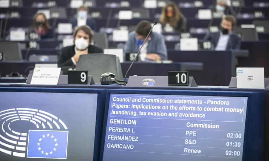 The council and commission statements about the pandoras papers and the implications on the efforts to combat money Laundering, tax evasion and avoidance at the European Parliament in Strasbourg eastern France