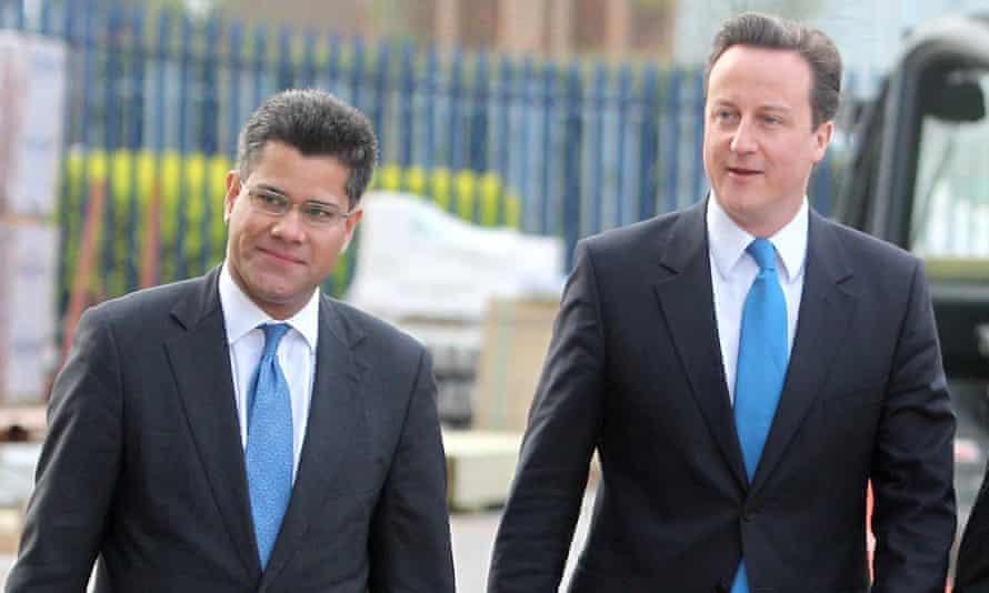 Alok Sharma with David Cameron.