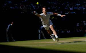 Andy Murray during his match with Ivo Karlovic
