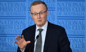 Reserve Bank Governor Philip Lowe delivers an address to the National Press Club in Sydney,  February 6, 2019.