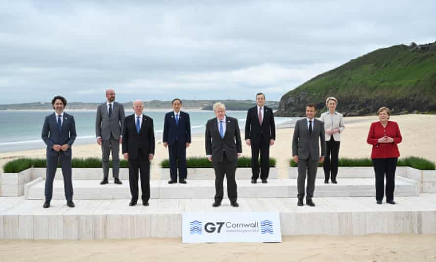 G7 leaders gather in Carbis Bay, Cornwall