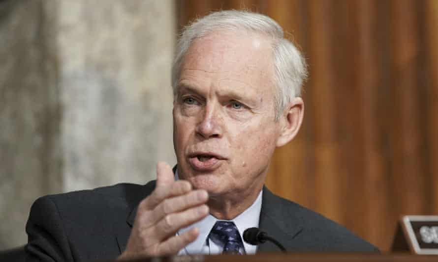 Ron Johnson at the US Capitol in Washington DC on 3 March.